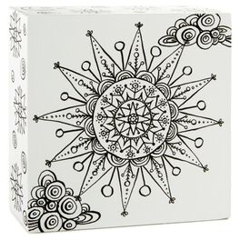 Sun 4x4 Coloring Plaque, , large