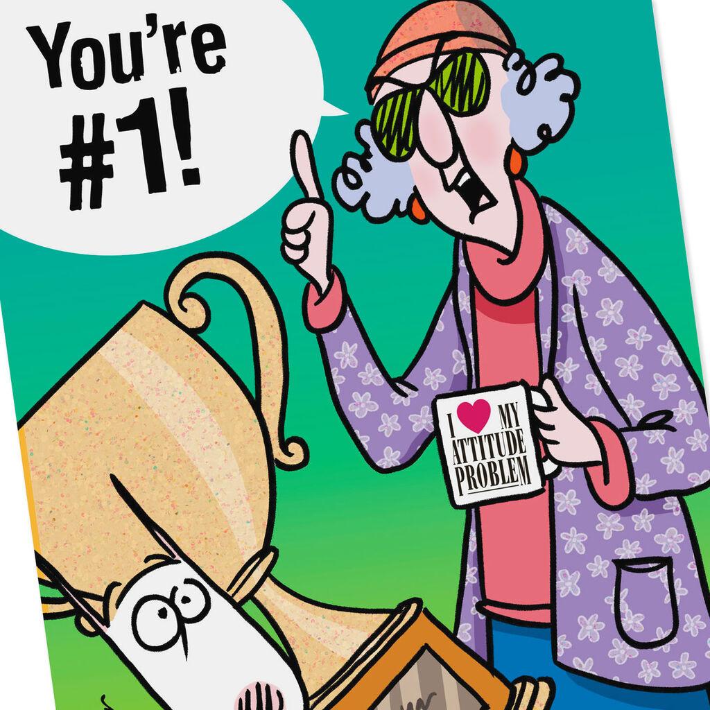39c8586f2cafa Maxine™ You're #1 Funny Congratulations Card