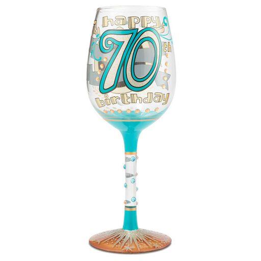 e0b4a360aa1 Lolita® 70th Birthday Handpainted Wine Glass
