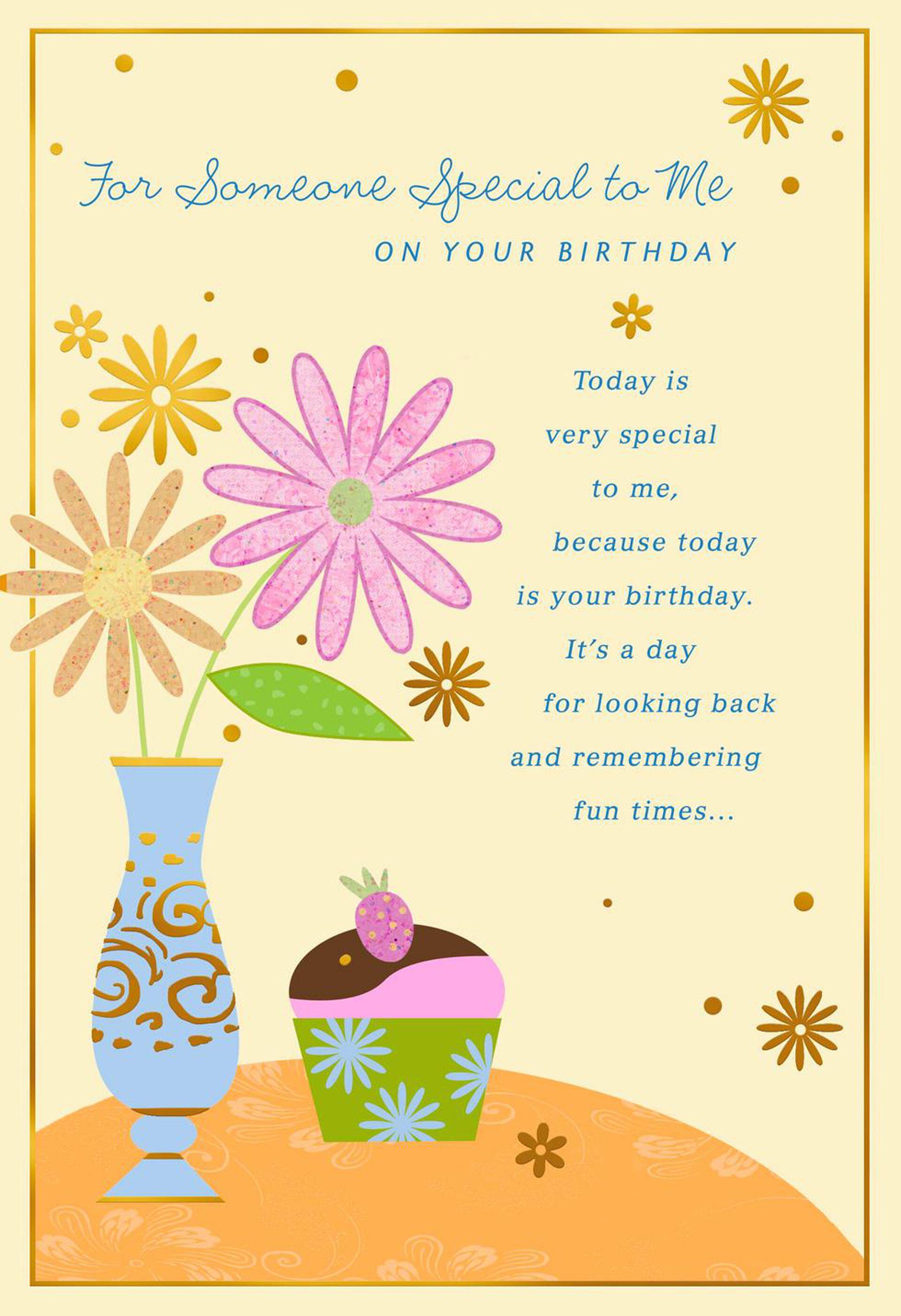 Happy Birthday to someone special Hallmark Greeting Card Female