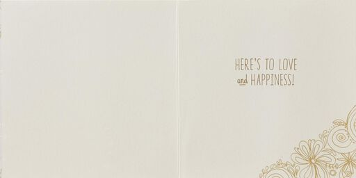A Toast to Love and Happiness Engagement Card,