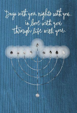 The Light of Our Love Hanukkah Card
