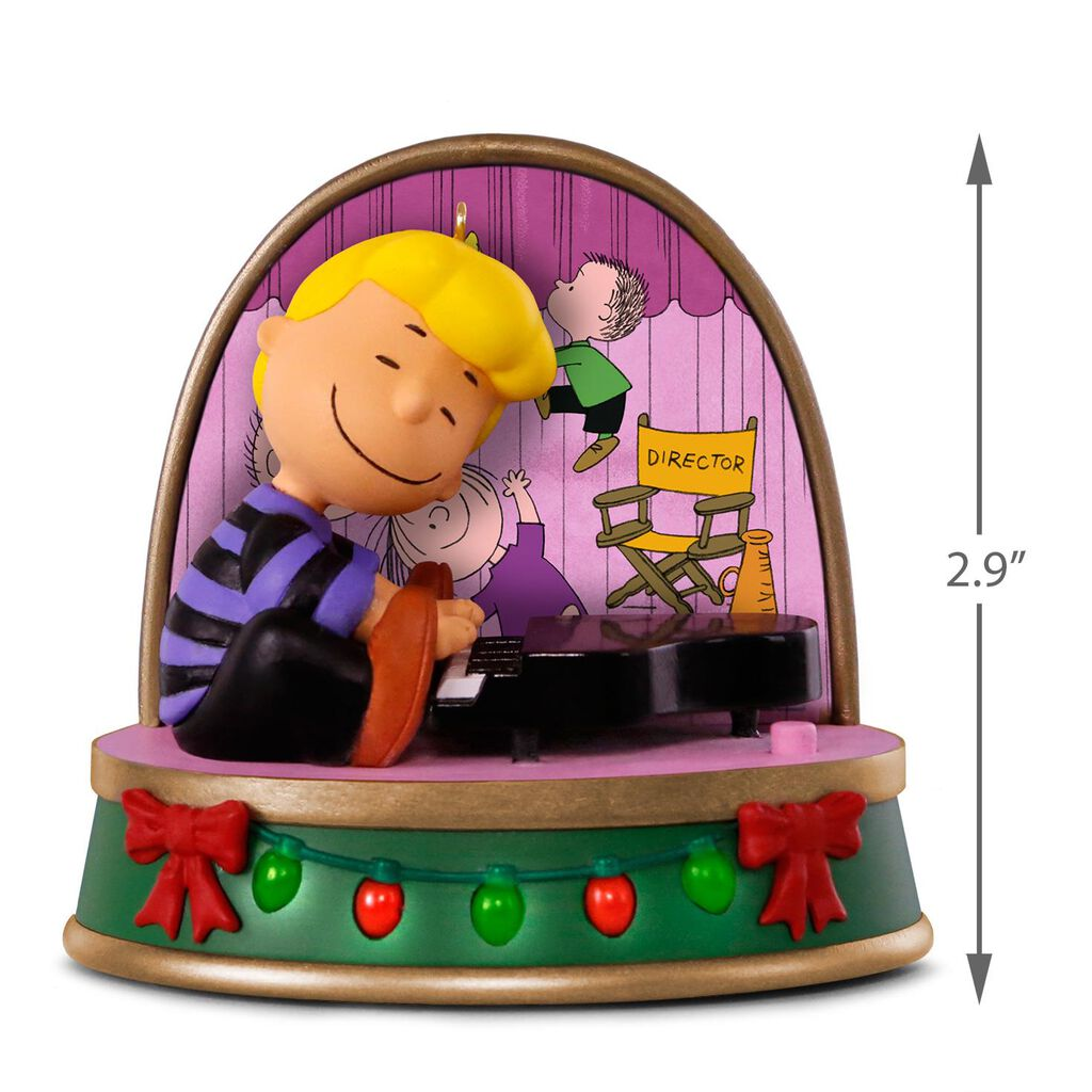 A Charlie Brown Christmas Schroeder Ornament With Sound and Light ...