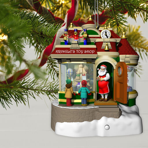... Kringle's Toy Shop Ornament With Light, Sound and Motion,