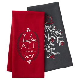 Laughing All The Way Tea Towels, Set of 2, , large