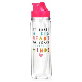 """It Takes a Big Heart to Teach Little Minds"" Water Bottle, 18 oz., , large"