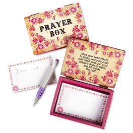Natural Life Wood Prayer Box Pink Floral, , large