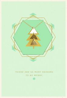 Merry Triangles Necklace Christmas Card,