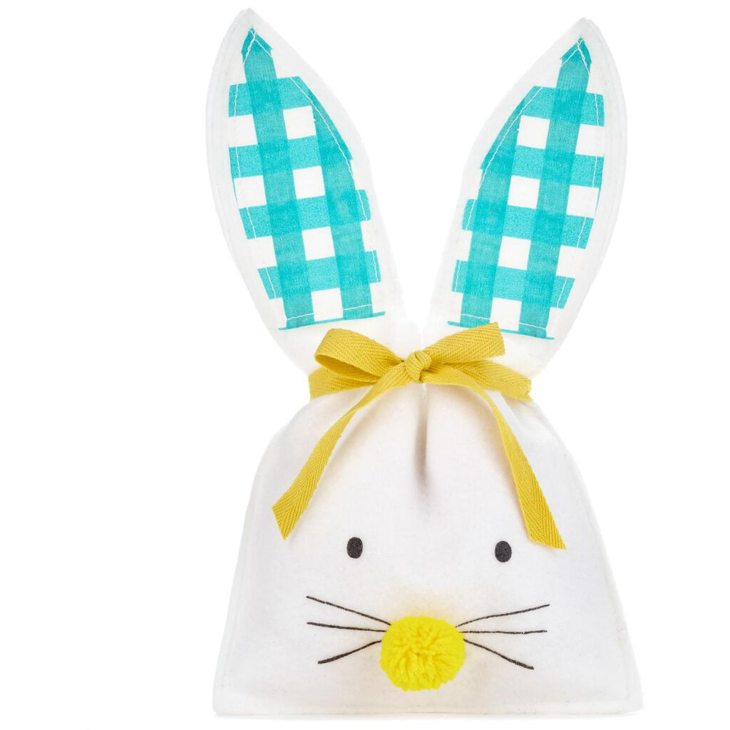 Easter bunny small fabric gift bag 115 gift bags hallmark easter bunny small fabric gift bag negle Images
