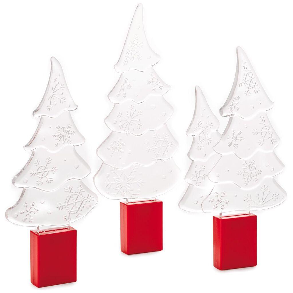 Snow Many Memories Light-Up Trees, Set of 3 - Figurines - Hallmark