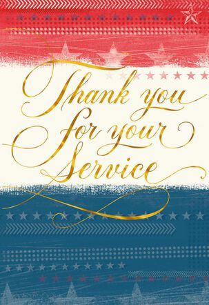 Red, White and Blue Veterans Day Card