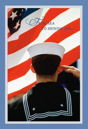 Sea to Shining Sea Navy Veterans Day Card