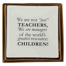Mud Pie® Not Just a Teacher Decorative Plate, , large