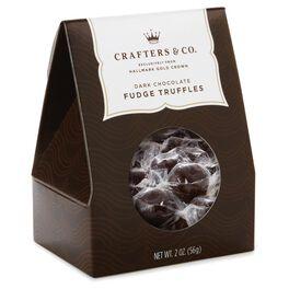 2 oz. Dark Chocolate Fudge Truffles Candy in Gift Box, , large