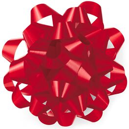 "Red High Gloss Ribbon Confetti Gift Bow, 4 5/8"", , large"
