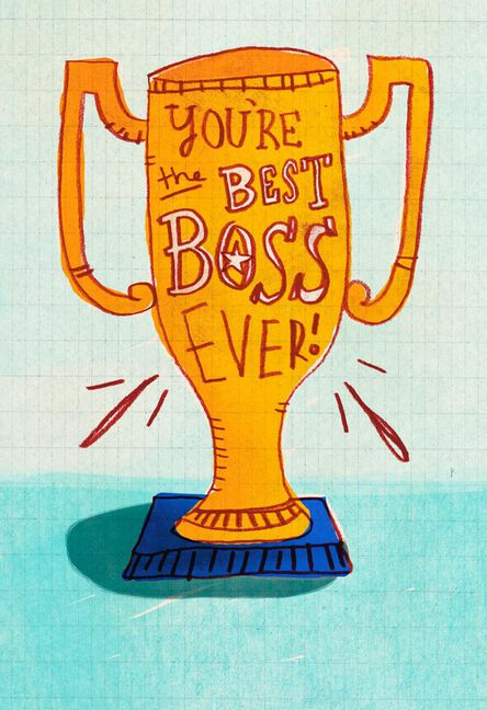 best boss award funny boss s day card greeting cards hallmark