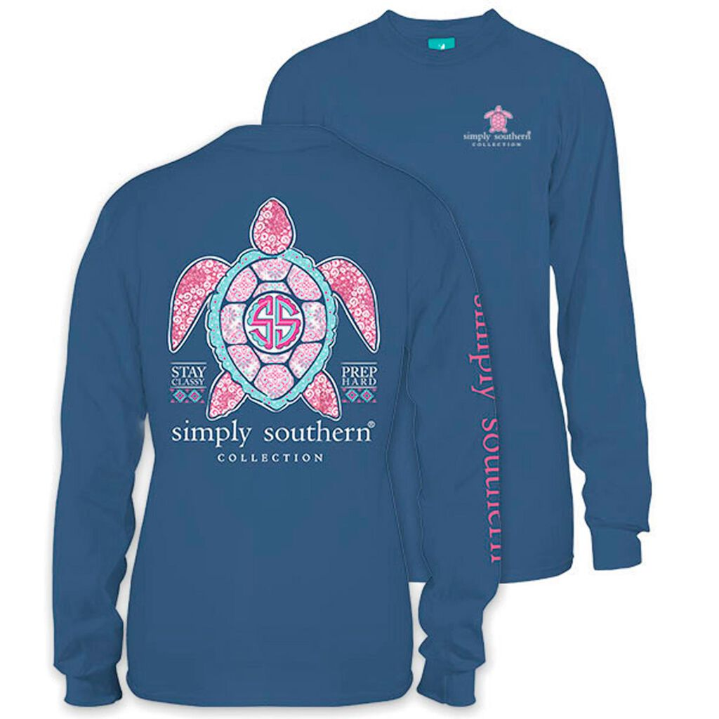 46748d1b3b Simply Southern Women's Princess Turtle Long Sleeve T-Shirt - Clothing -  Hallmark