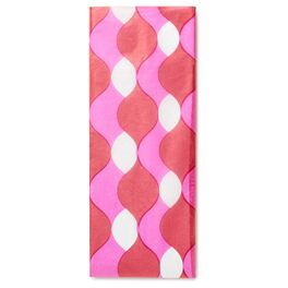 Red and Pink Wave Tissue Paper, , large