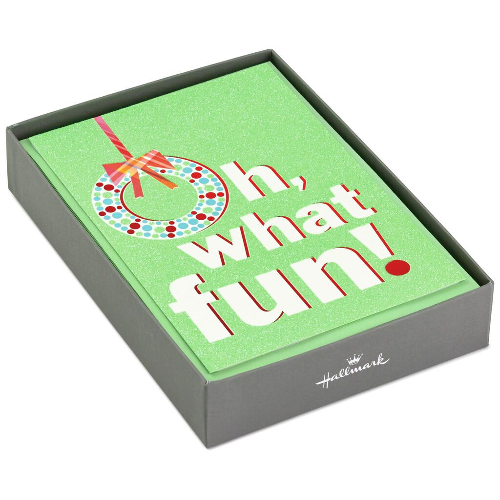 Oh What Fun Christmas Cards, Box of 16 - Boxed Cards - Hallmark
