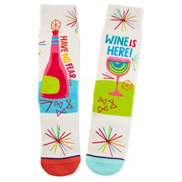 Never Fear, Wine Is Here Toe of a Kind Socks, , large