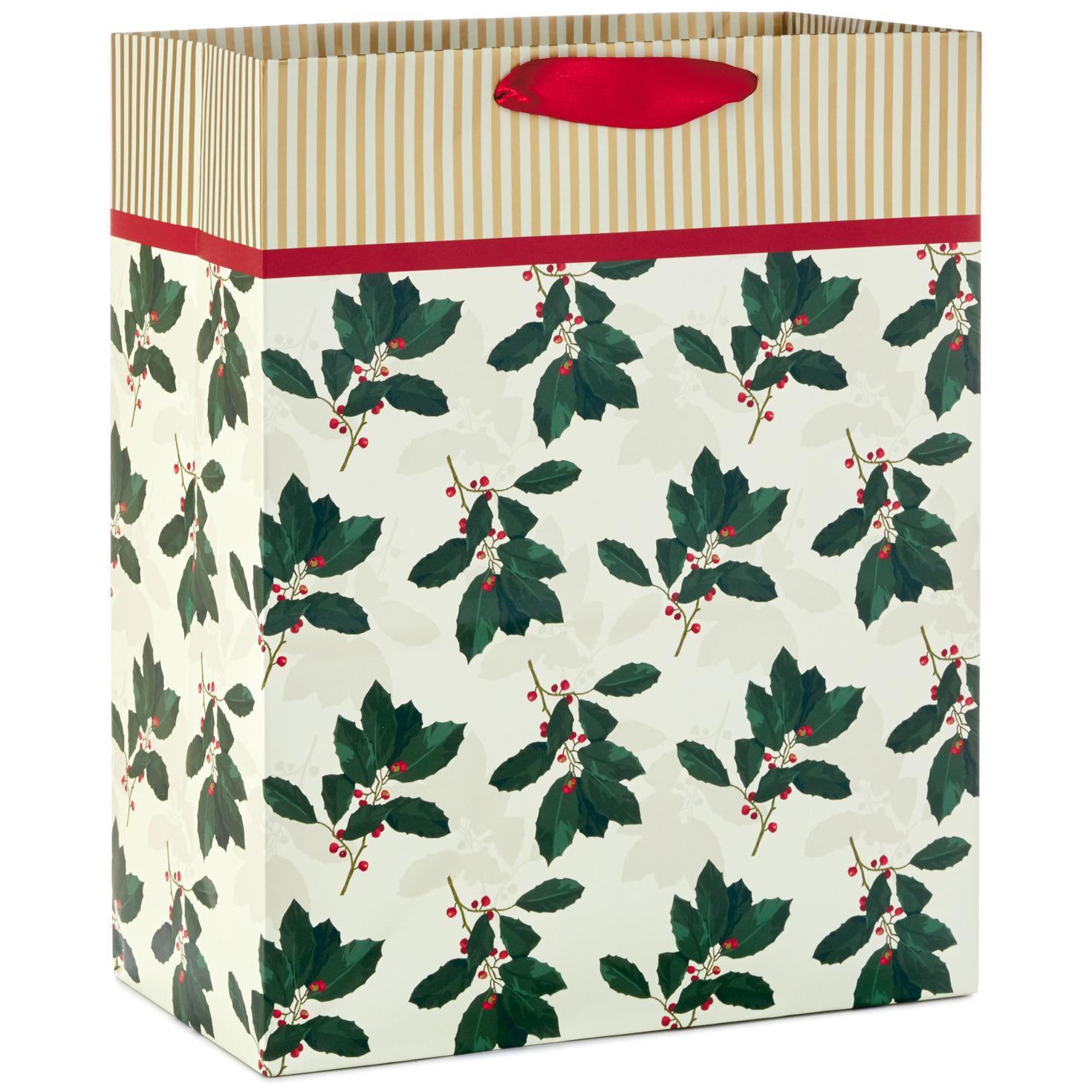holly large christmas gift bag 13 gift bags hallmark - Large Christmas Gift Bags
