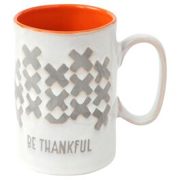 Be Thankful Stoneware Mug, 12 oz., , large
