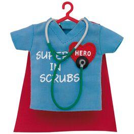 Healthcare Superhero in Scrubs Ornament, , large