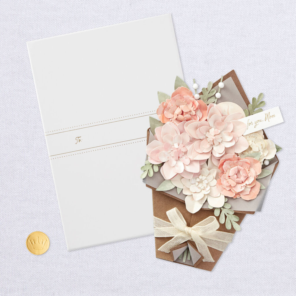 So Grateful For You Papercraft Flowers Mother S Day Card In Gift Box