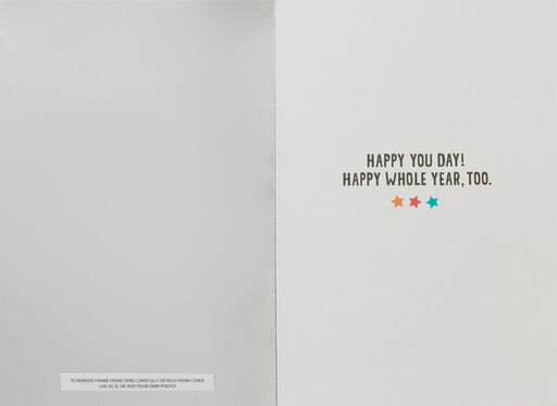 Best Day Ever Picture Frame Birthday Card,
