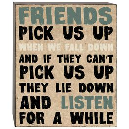 Friends Pick Us Up Box Sign, 5x7, , large