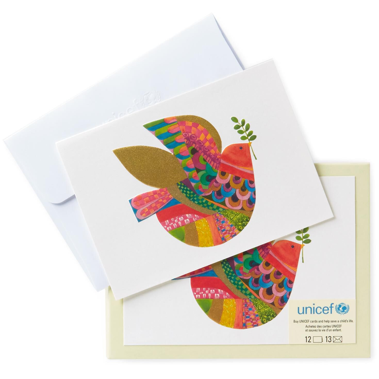 UNICEF Dove of Peace Holiday Note Cards, Pack of 12 - Boxed Cards ...