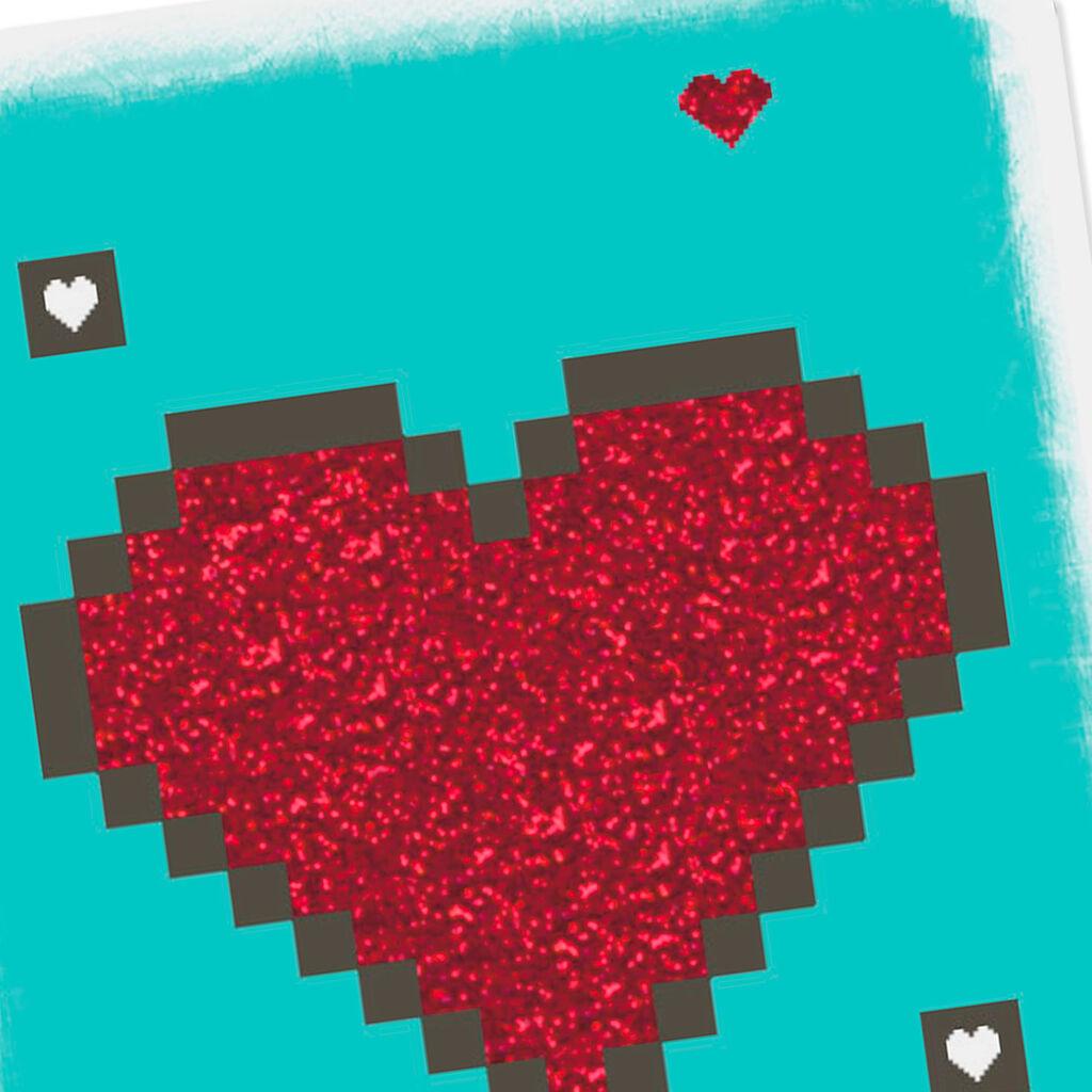 325 Mini Pixel Art Heart Love Card