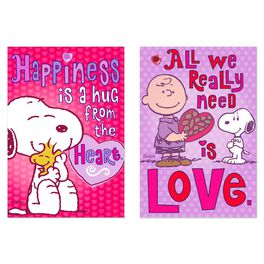 Peanuts® Happiness and Love Valentine's Day Cards, Pack of 6, , large