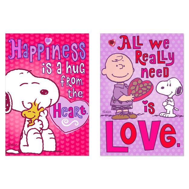 peanuts happiness and love valentines day cards