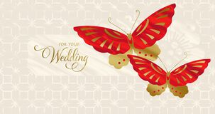 Soaring Hearts Money Holder Wedding Card