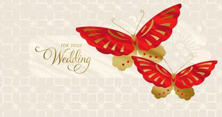 Soaring Hearts Money Holder Wedding Card,