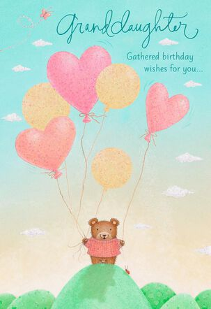Gathered Wishes Birthday Card for Granddaughter