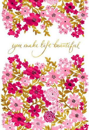 You Make Life Beautiful, Wife Valentine's Day Card