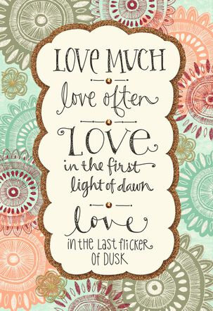 Love Much, Love Often Wedding Card