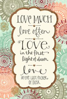Love Much, Love Often Wedding Card,