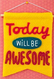 Awesome Day Blank Card With Removable Banner,