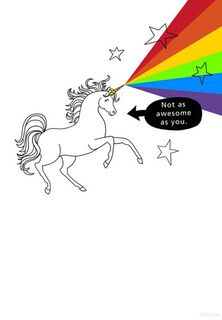 More Awesome Than a Unicorn Funny Birthday Card,