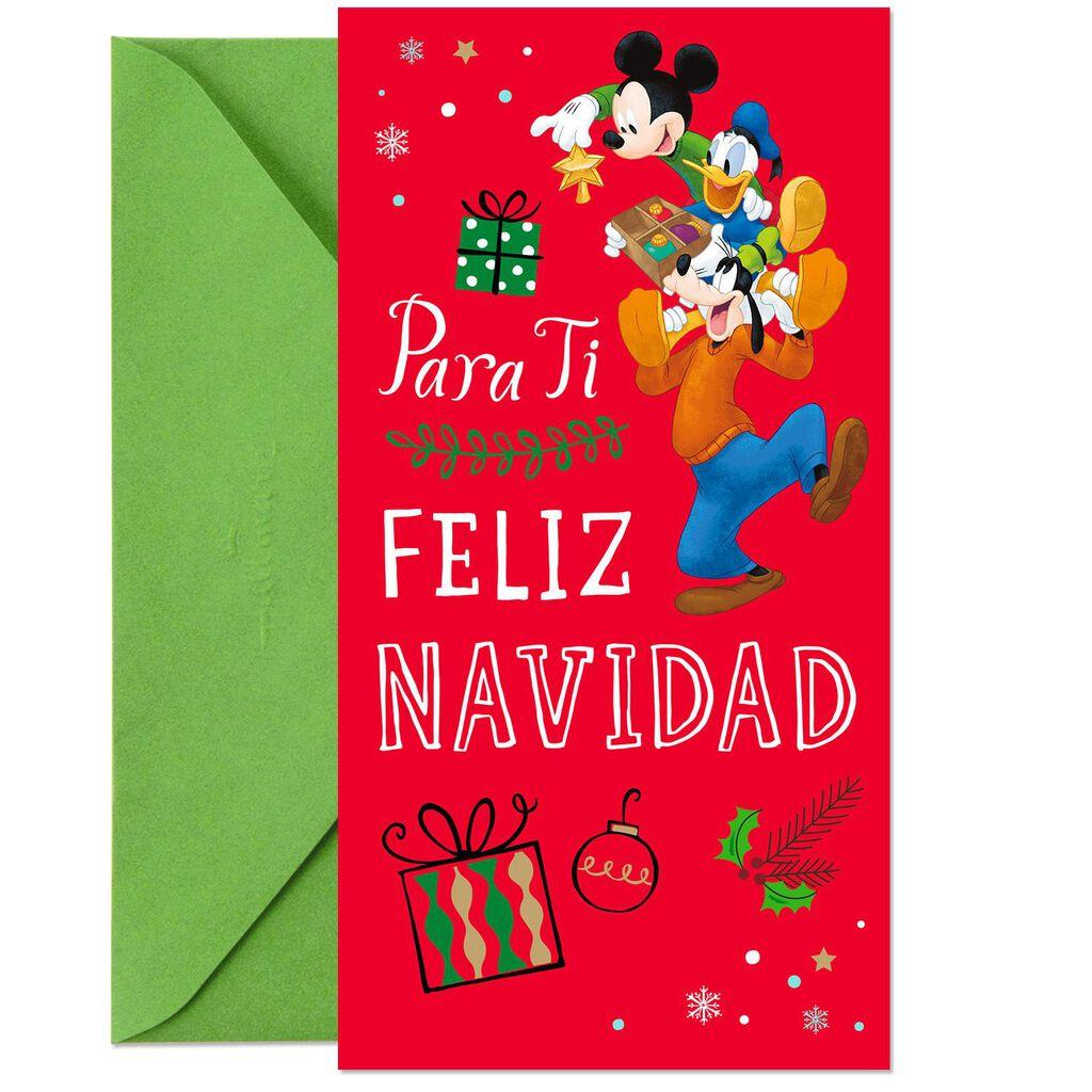 Disney Mickey Mouse Sharing Merry Spanish-Language Money Holder ...