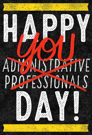 Happy You Day Funny Admin Professionals Day Card
