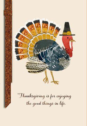 Bejeweled Turkey Thanksgiving Card