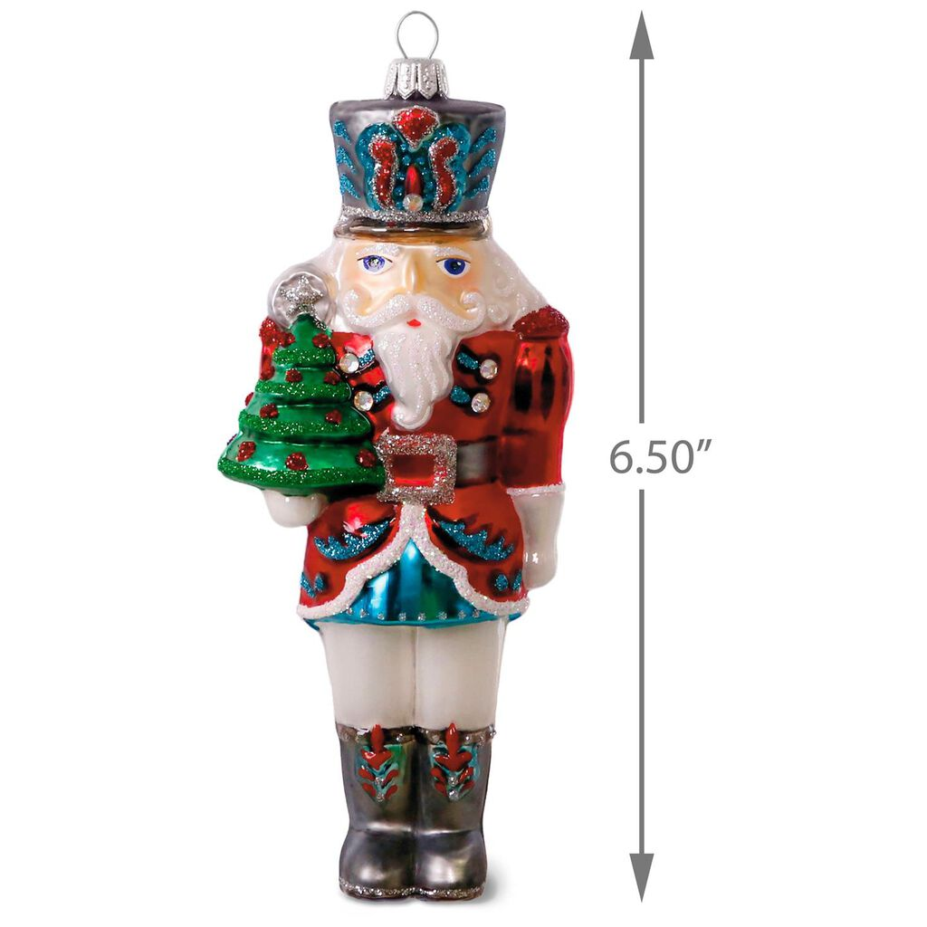 Traditional Nutcracker Blown Glass Ornament - Specialty Ornaments ...
