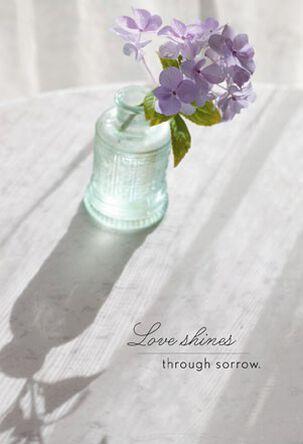 Violets in Vase Sympathy Card