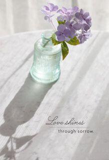 Violets in Vase Sympathy Card,