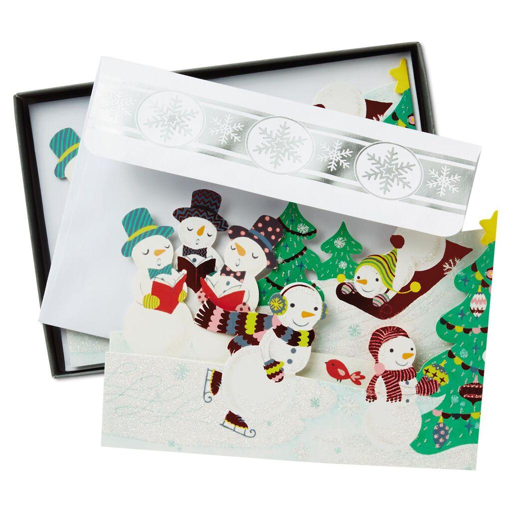 Snowman Fun Tri-Fold Christmas Cards, Box of 12 - Boxed Cards - Hallmark