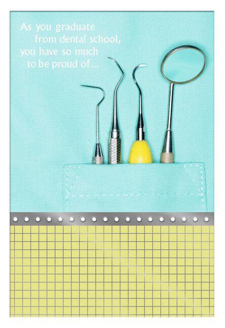 Dental school graduation card greeting cards hallmark dental school graduation card m4hsunfo